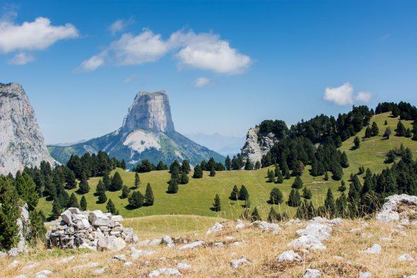 Mont Aiguille depuis le refuge de Chaumailloux