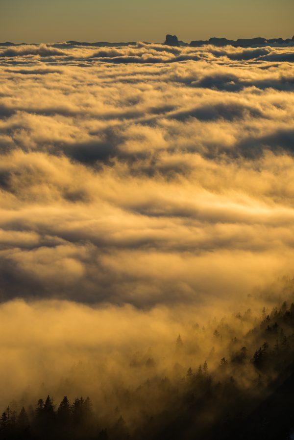 Mer de nuage séparant Belledonne du massif du Vercors