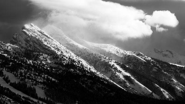Le Vercors en noir & blanc : Pic Saint Michel