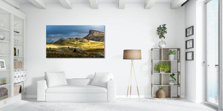 tableau photo dans un salon