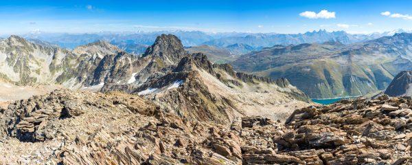 Panorama sur les Alpes depuis le Rocher Blanc (Belledonne)