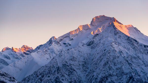Coucher de soleil hivernal sur la Roche de la Muzelle