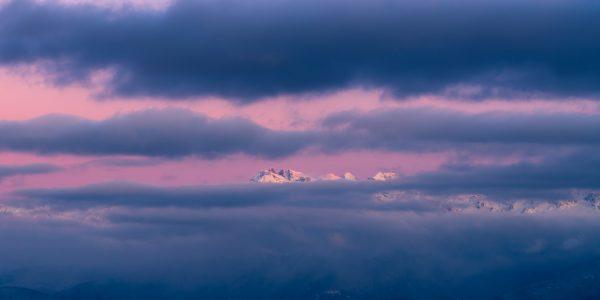 Panorama sur le Grand Pic de Belledonne