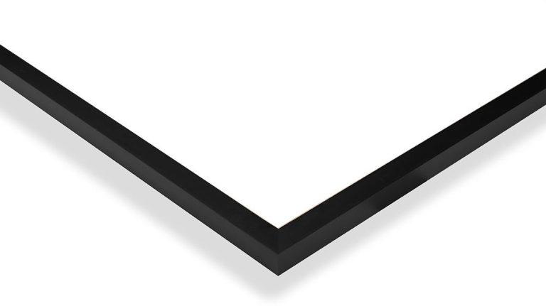 Détail d'un cadre en aluminium noir