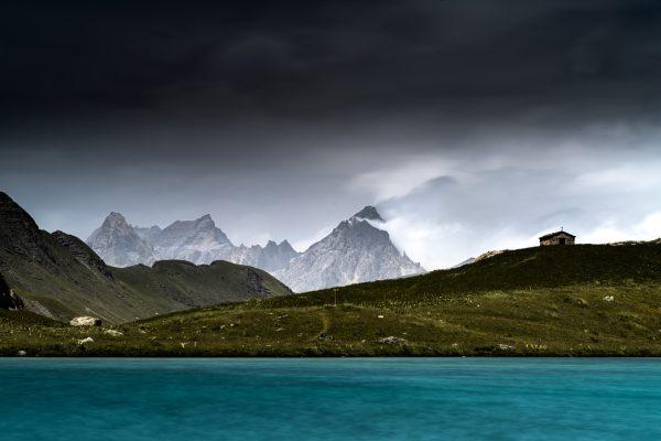 Mont Sautron vu depuis le lac du Lauzanier
