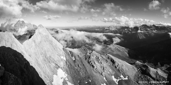 Panorama sur le Mont Viso et le Pic d'Asti