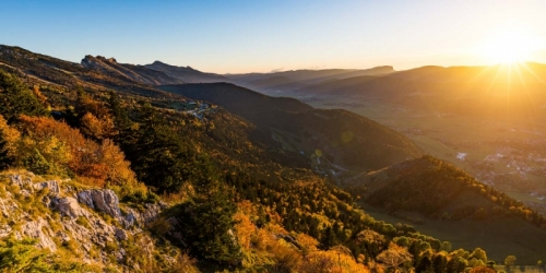photos couleurs d'automne au dessus de Lans-En-Vercors